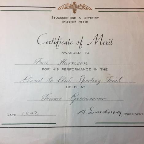 1947 Certificate of Merit