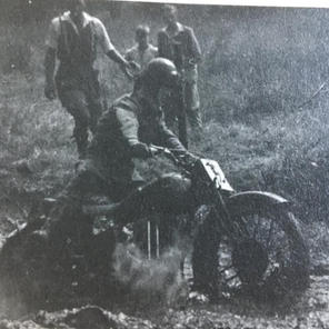 Fred Harrison scrambling in Trunce mud
