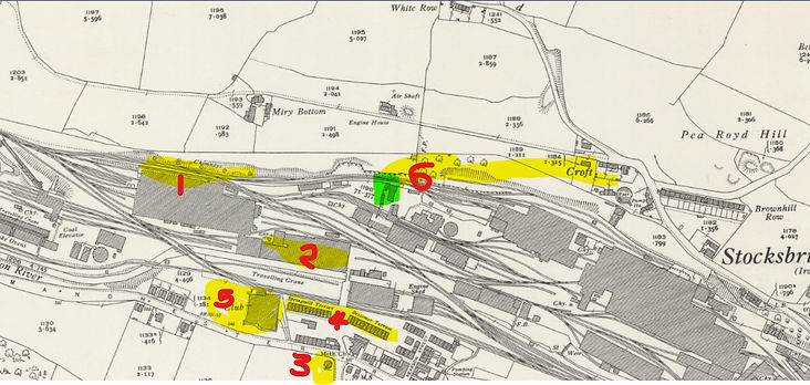 1931 OS map showing approx bomb location