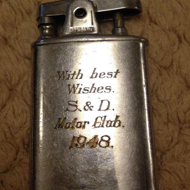 Lighter presented to John Mason