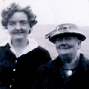 Lily Pearson nee Kaye on the right, with her granddaughter Anne Rigby