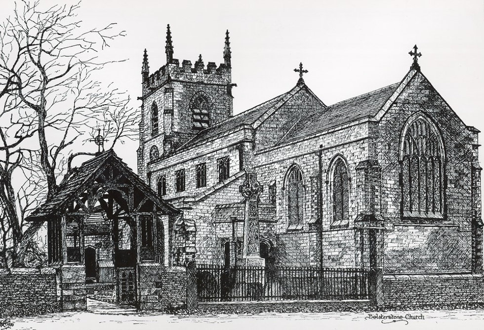 Bolsterstone church and war memorial dra