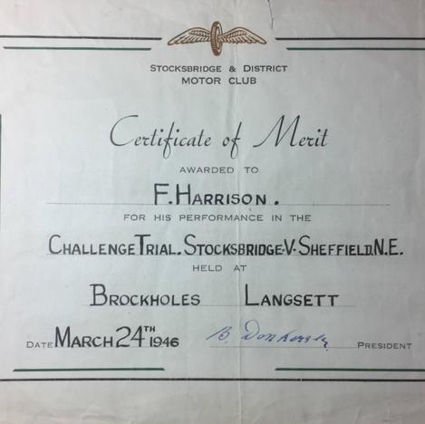 1946 Certificate of Merit