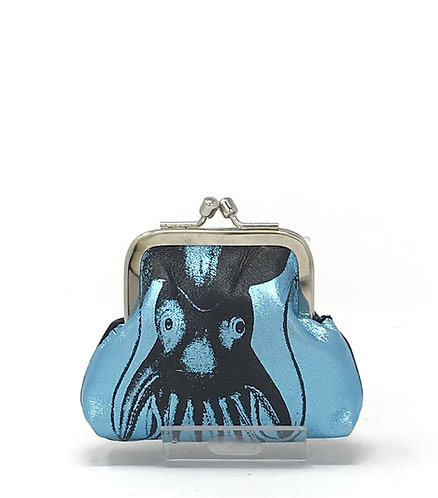 GRANMA borsellino small - Azzurro Metal
