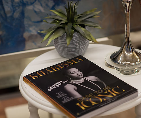 Kharisma Magazine on table - Copy.jpg