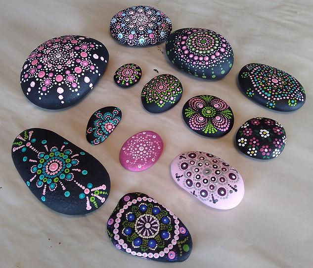 Pink mandala stones