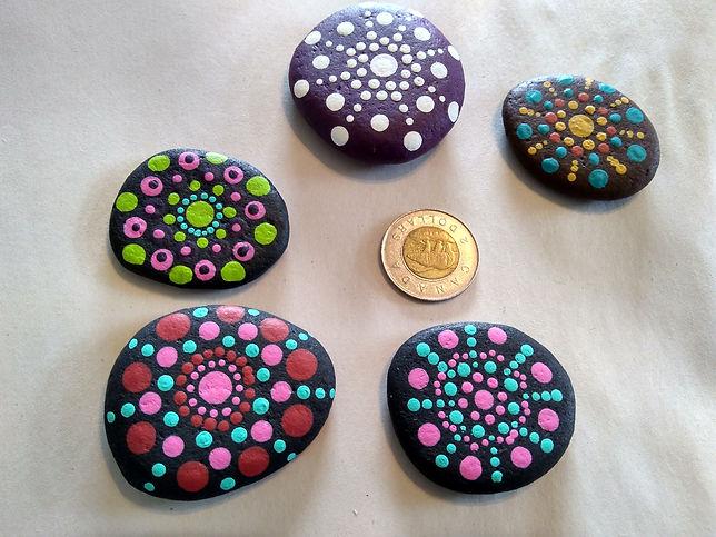 small mandala stones