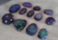 purple stones