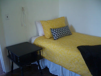 Guest Room- Black, White & Yellow