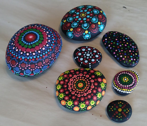 multi coloured mandalas