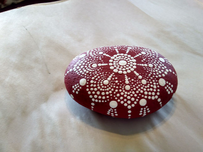 red and white mandala
