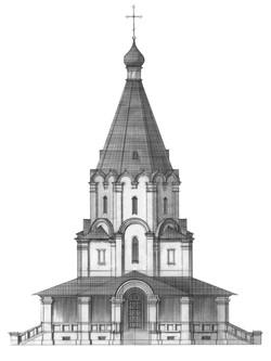 ХРАМ СВ. КНЯЗЯ ВЛАДИМИРА (гл. фасад)