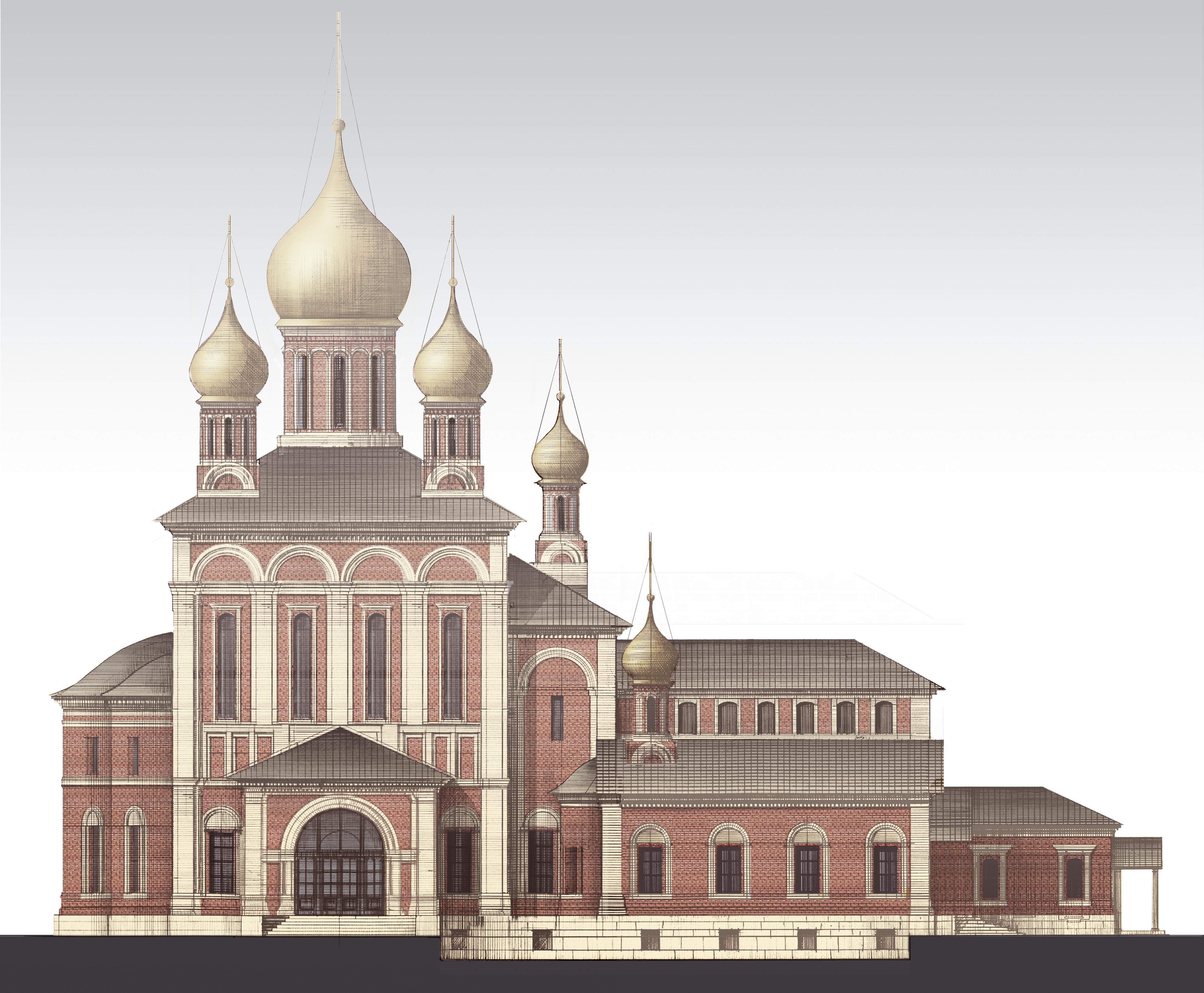 РОЖДЕСТВЕНСКИЙ СОБОР, фасад, вар.2