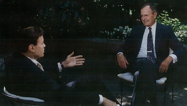 Upton Bell interviews President George H.W. Bush (August 1990)