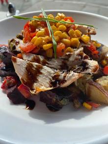Oven Roastedd Chicken | Root Vegetable | Corn Salsa
