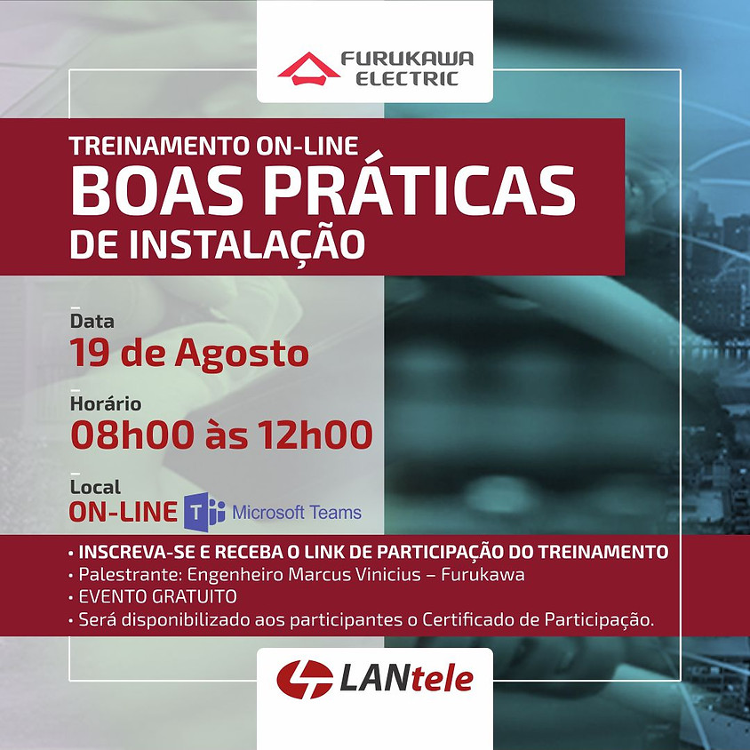 TREINAMENTO ON-LINE - BOAS PRÁTICAS DE INSTALAÇÃO - MANHÃ