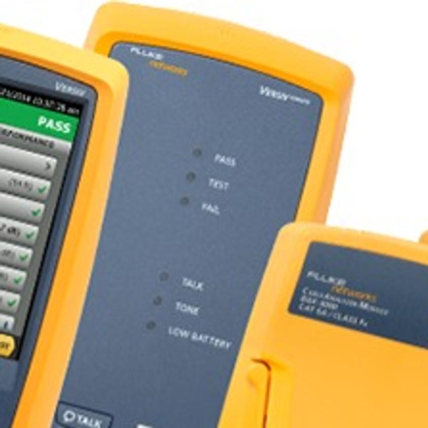 Treinamento em Certificação de Cabeamento Estruturado Metálico utilizando oDSX-5000/8000 da Fluke Networks