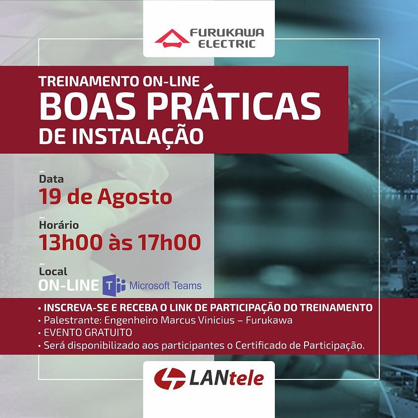 TREINAMENTO ON-LINE - BOAS PRÁTICAS DE INSTALAÇÃO - TARDE