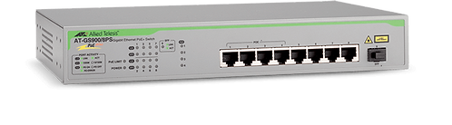 SWITCH 8P GIGA +1 SFP 4P POE 75W • AT-GS900/8PS