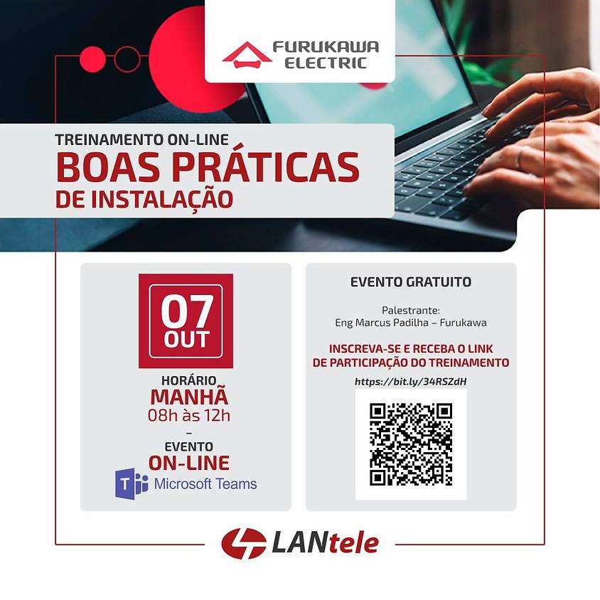 TREINAMENTO ON-LINE - BOAS PRÁTICAS DE INSTALAÇÃO