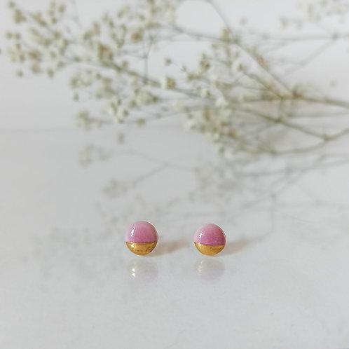 naušnice PECKY pink&gold