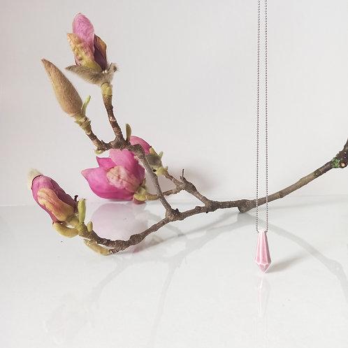 přívěsek CRYSTAL pink&pearl