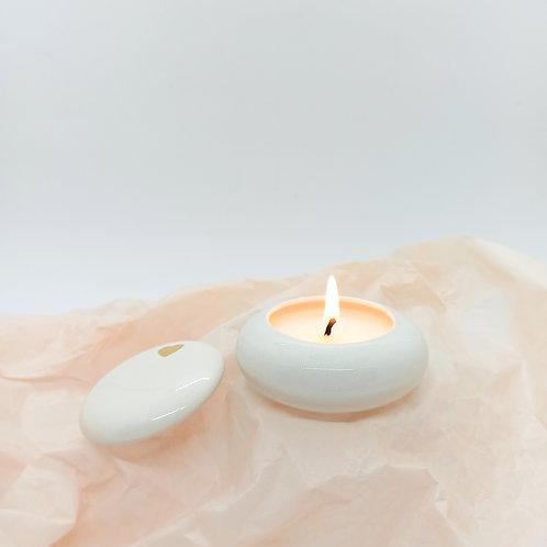 svíčka v dóze Zlaté srdce