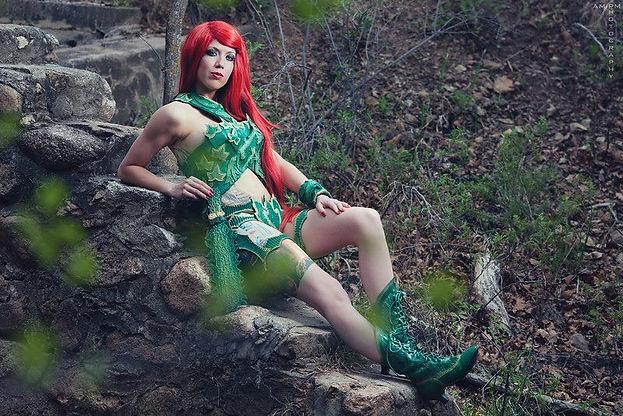 Kristi Kai Cosplay as Battle Ready Poison Ivy
