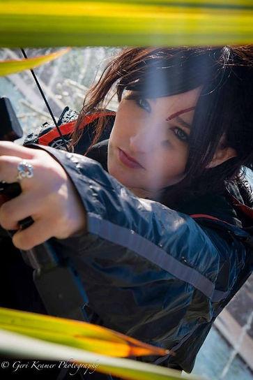 Alexandria the Red as Katniss Everdeen