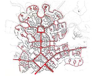 Town Pedestrian System