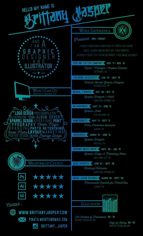 Custom Graphic Design Creative Resume