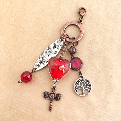 Red Heart copper charm set