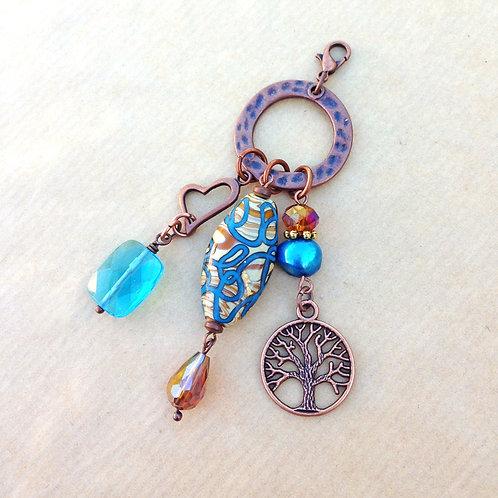 Blue Swirls charm set