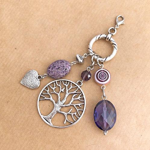 Purple Tree of Life charm set