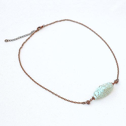 Magnesite copper necklace