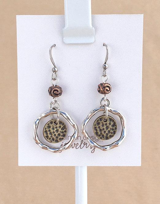 Tri-Metal Speckle earrings