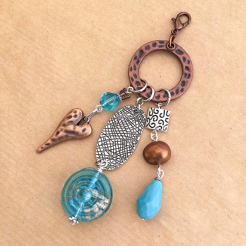 Aqua Swirl charm set