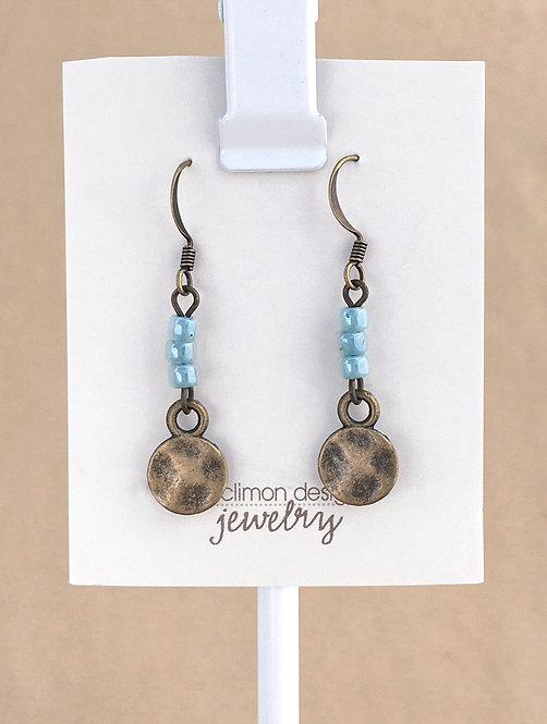 Auqa & Brass earrings