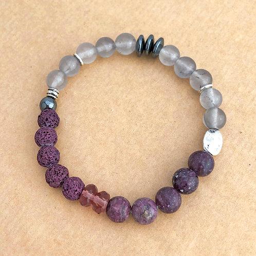 Aromatherapy stretch bracelet - Purple
