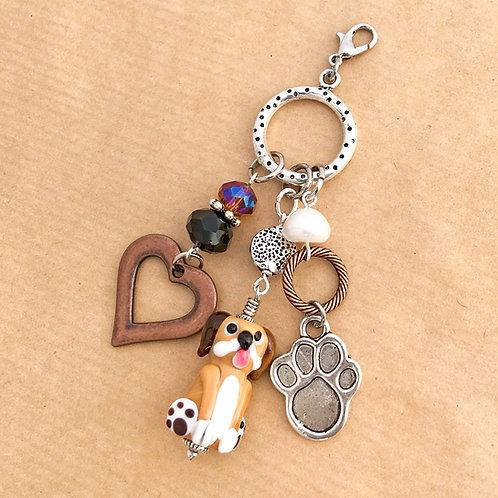 Brown Dog charm set