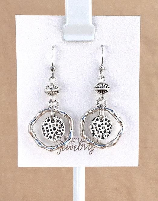 Silver Speckle earrings