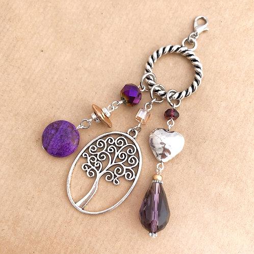 Violet & Gold charm set