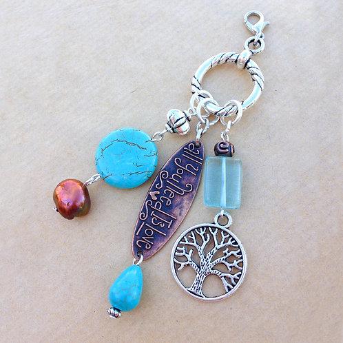Turquoise & Copper charm set