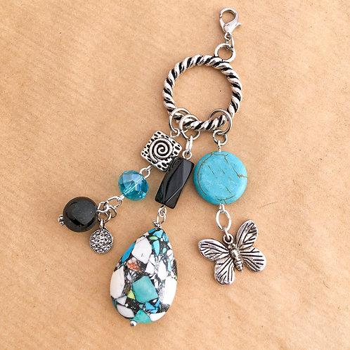Aqua Impressionist charm set