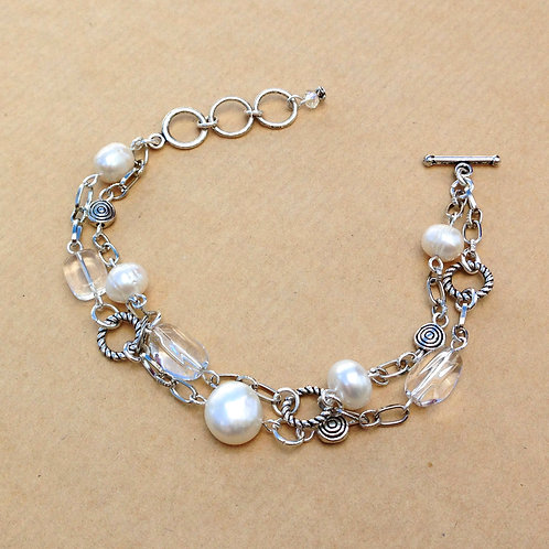 Pearls & Quartz bracelet