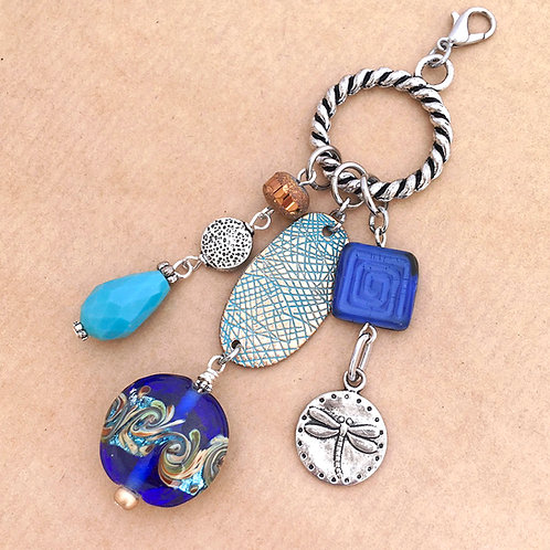 Shades of Blue charm set