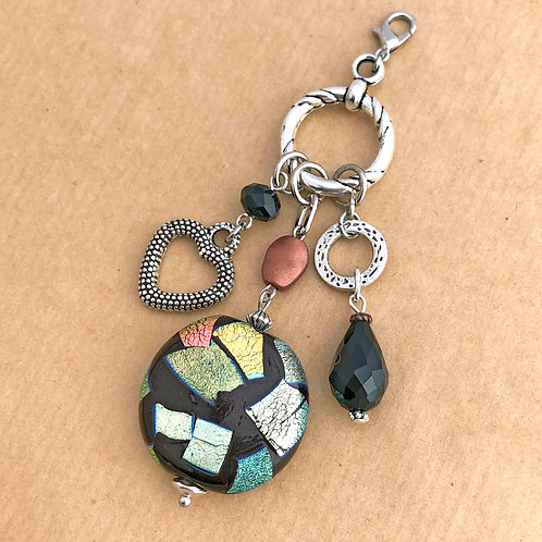 Black Dichroic charm set