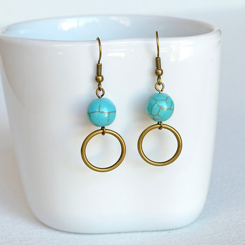 Brass & Turquoise earrings