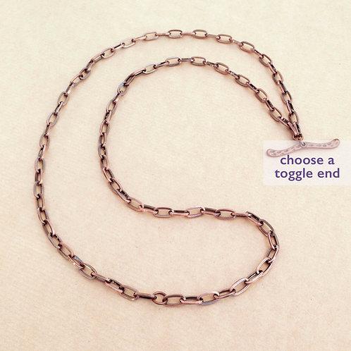 Antique Copper large-link chain