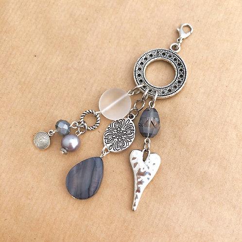 Gray & Silver charm set